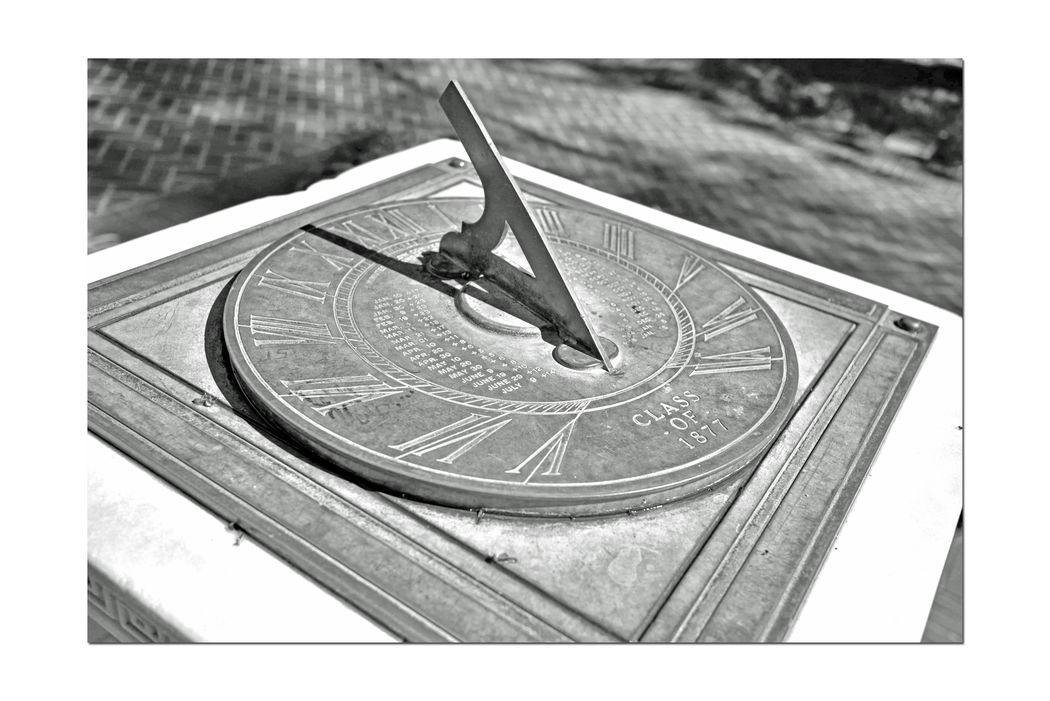 Sather Esplanade Sundial @ University of California Berkeley 2 Gift Of Class Of 1877 Architect: Clinton Day Installation: 1915 Media: White Marble & Bronze Located : Promenade South Of Sather Tower Solar Geometry Analemma Annual And Diurnal Solar Cycles Black & White Black And White Black And White Collection  Black And White Photography