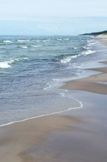 Sea Beach Water Shore Wave Scenics Sand Tranquil Scene Tranquility Beauty In Nature Tourism Baltic Coast Vacations Tide Baltic Coast Line Travel Destinations Non-urban Scene Summer Sky Seascape Cloud - Sky Idyllic Coastline Beauty In Nature Lost In The Landscape