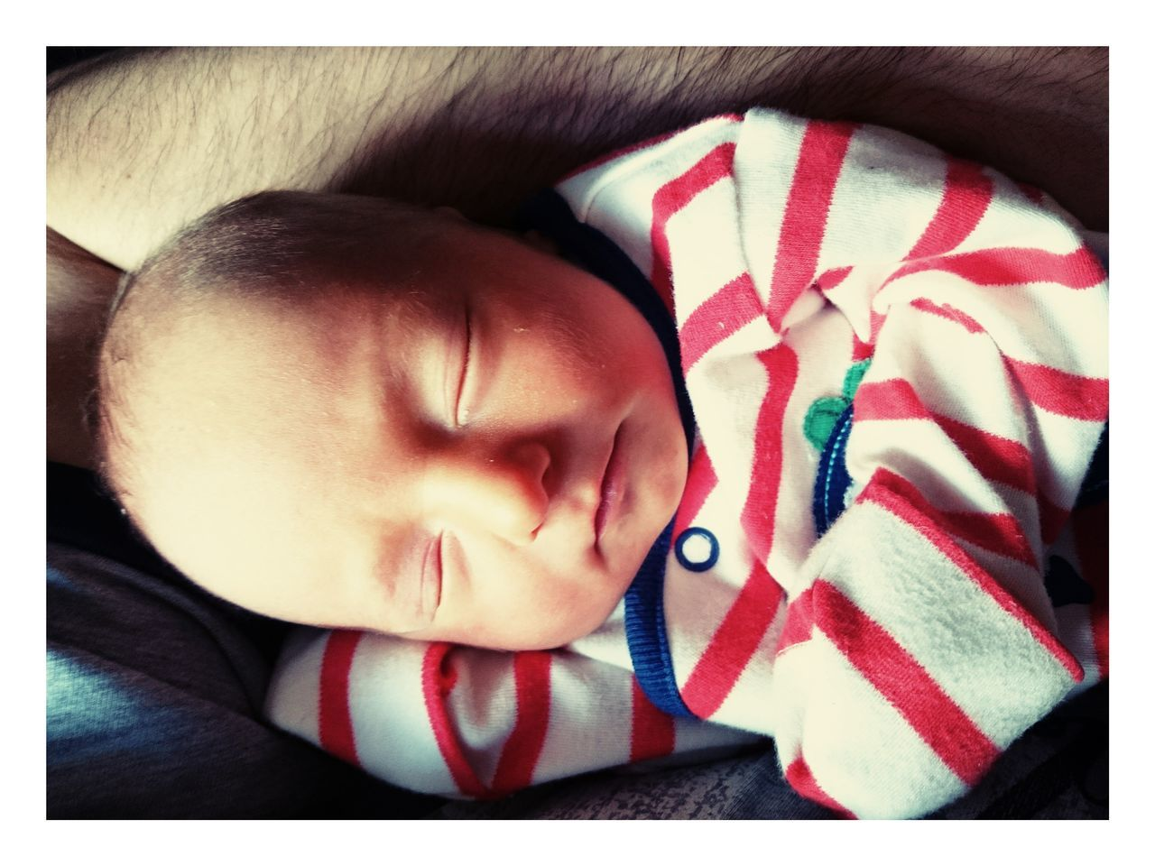 One Person Headshot Human Face Childhood Real People Close-up Day Newborn Baby Babyboy Sleeping Newborn Baby Boy Stripes Pattern