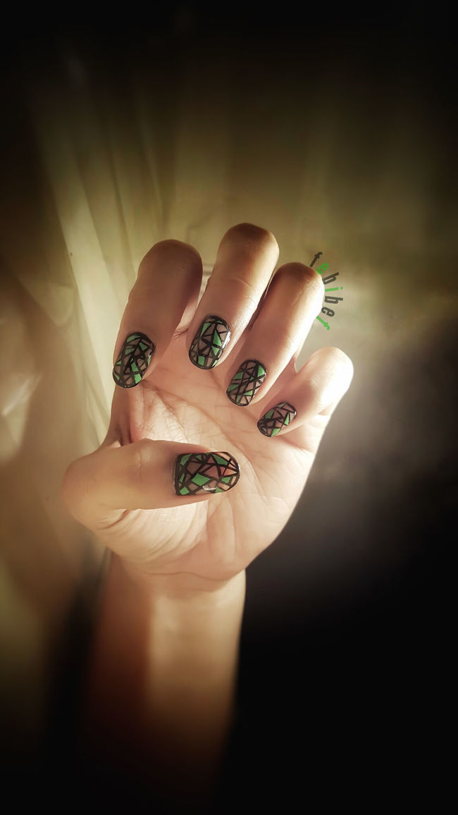 My Nail Art Nailartaddict Nail Art Nail Polish Nailartlover Nails Done Geometricnailarts Geometric Art Nailart