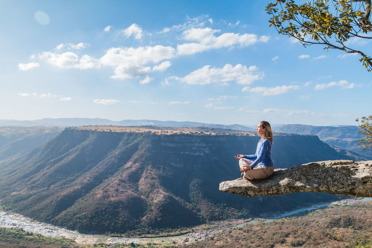 Backpacking Calm Canyon Casual Clothing Gorge High Ledge Leisure Activity Leopards Rock Lifestyles Looking At View Meditation Mountain Nature Oribi Gorge Overhang Scenic Sky Sky And Clouds South Africa Tranquility Tranquility Traveling View From Above Woman