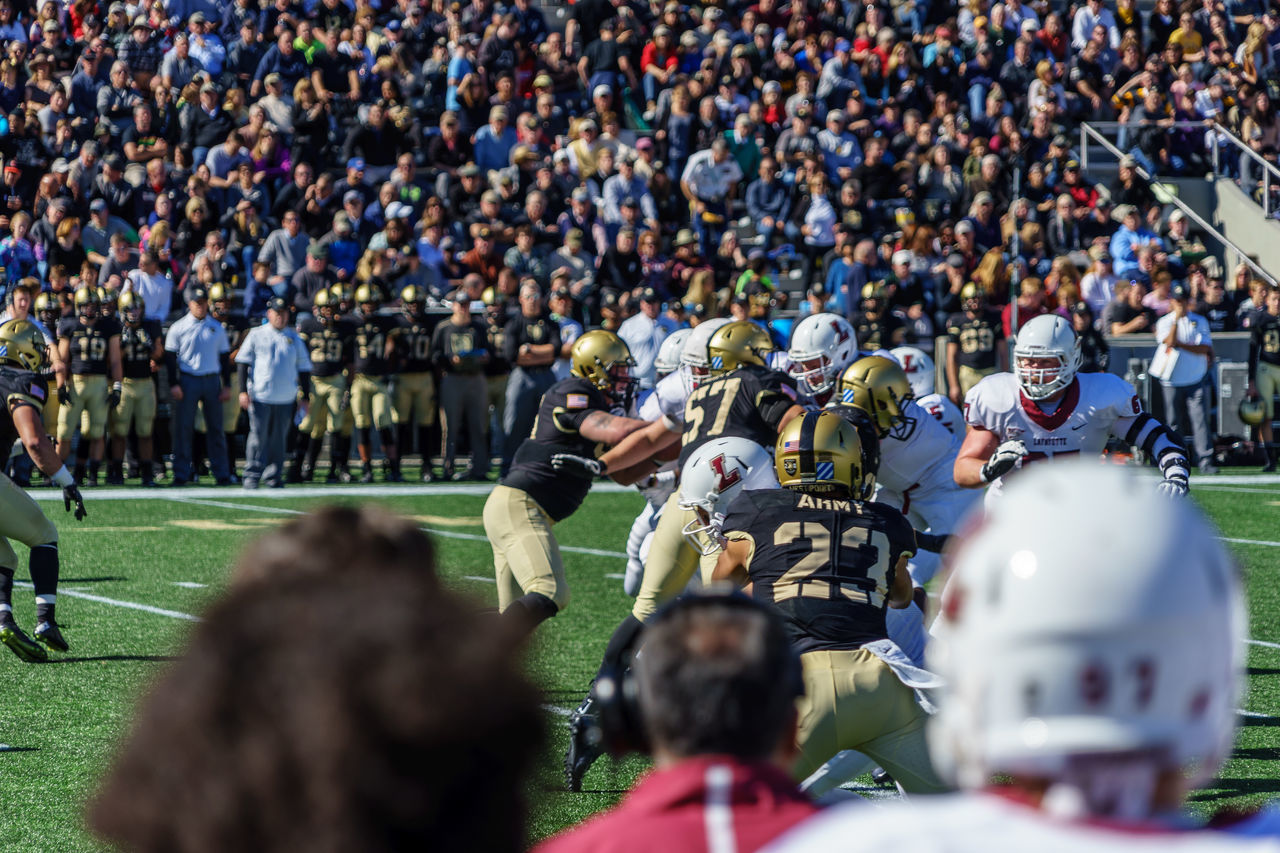 Adult American American Military Academy Army Black Knights College Crowd Day Football Horizontal Lafayette Large Group Of People Match - Sport Outdoors People Person Real People Soldier Spectator Sport Stadium USA Westpoint My Year My View