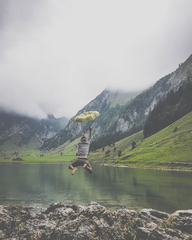 Picoftheday Switzerland Backpacking EyeEm Nature Lover Travel Destinations Travel Places You Must To See Foggy Day Foggy Weather Bucketlist Beutiful Place  Mountains Hiking Photography Outdoors Anti Indoors Seealpsee Umbrella Beutiful Place