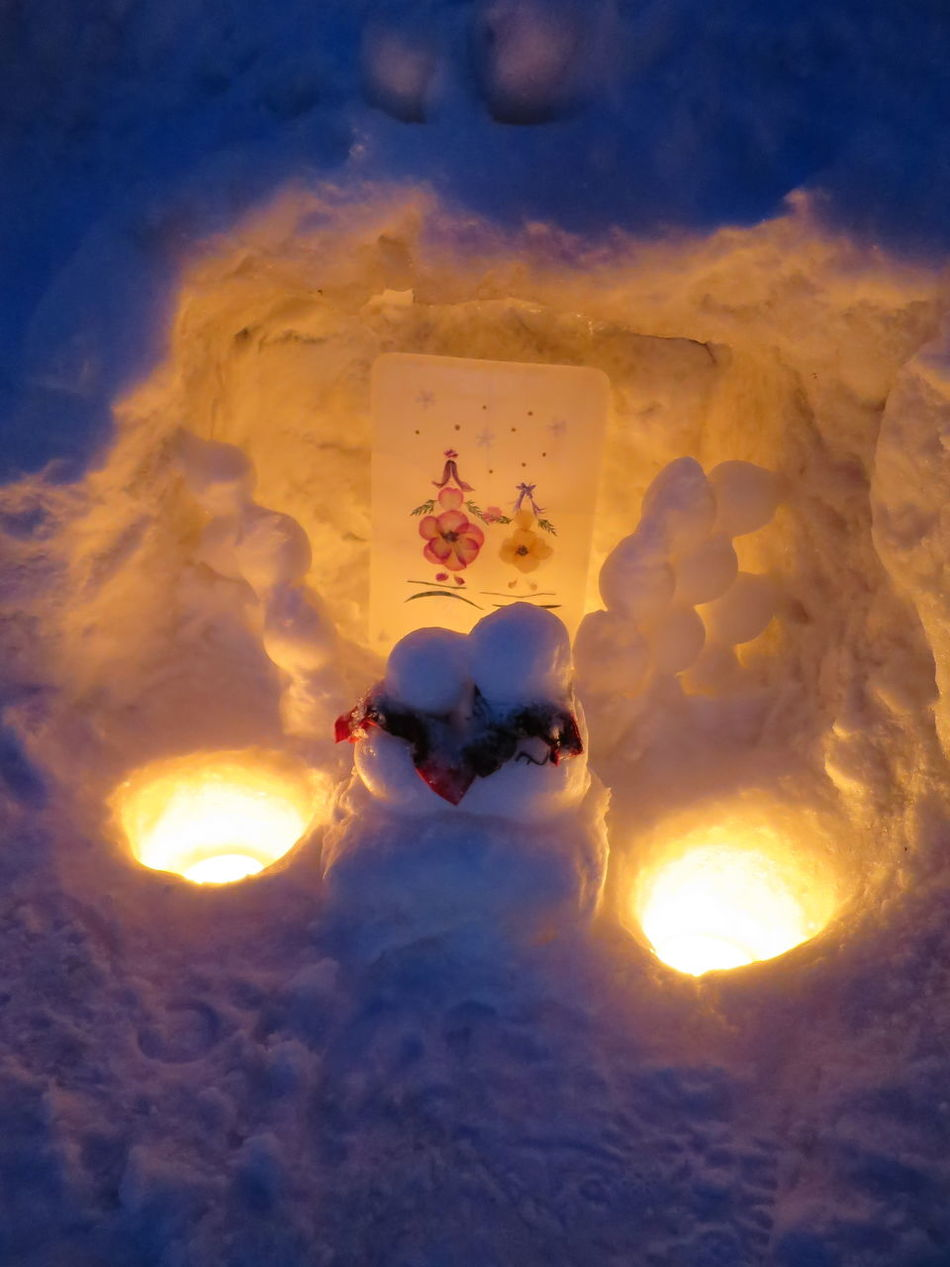 winter festival in Otaru 'Yuki akari no michi' (Otaru Snow Light Path) Otaru Snow Snow Candles Snowman Winter Yukiakari