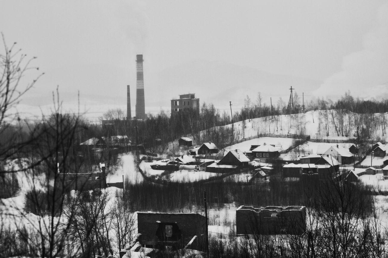 Карабаш город зима пейзаж индастриал урал