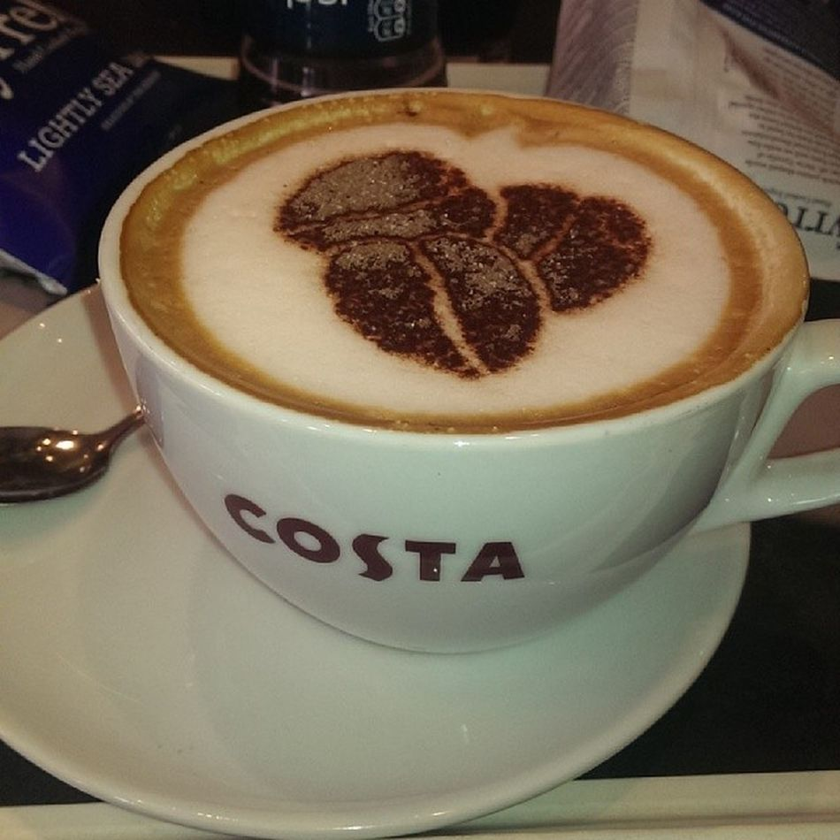 Having a good time with my family at Costa Coffee :-)
