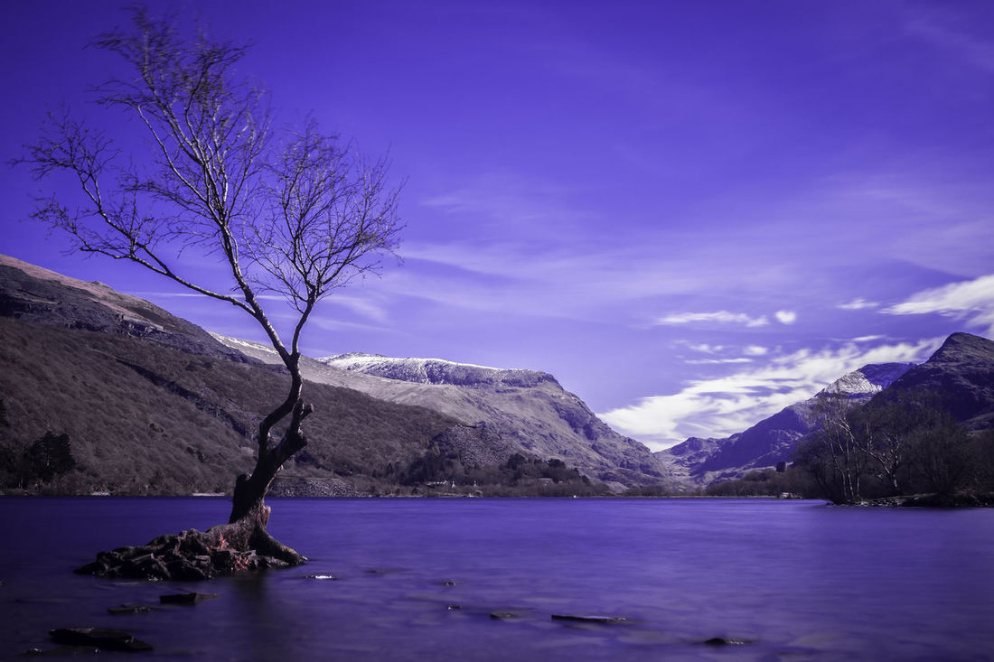 Llyn Padarn Beauty In Nature Day Landscape Mountain Nature No People Outdoors Sea Sky Water Wilderness