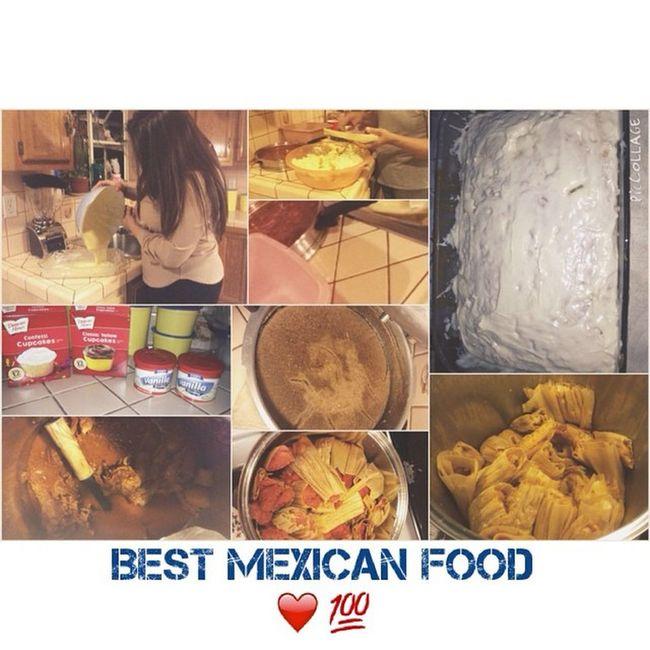 Best Mexican Food Tamales, Champurrado, Birria, Pastel y Tecate🍻💯🎅🎄! Dec25 2014 Tameles Champurrado Birria Pastel Tecate . 🍻🎶💀💯🎄!
