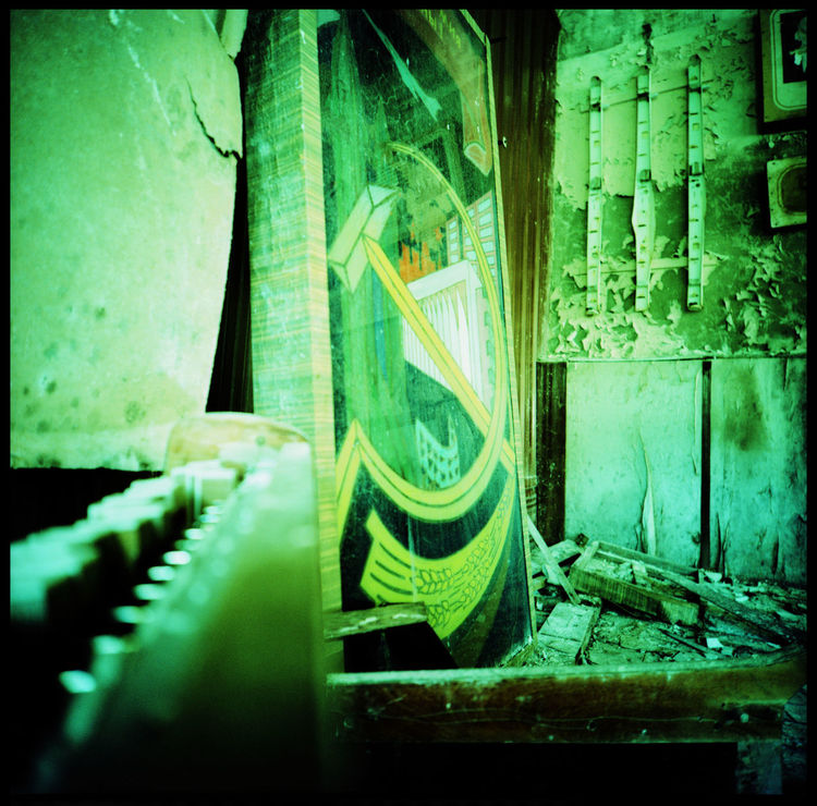 The soviet art of chernobyl Abandonded Military Site Abandoned Analogue Photography Antenna Chernobyl Chernobyl Exclusion Zone Civilization Disaster DUGA III Eerie Glass Soldier Hammer And Sickle Kosmonaut Kosmos Medium Format Military No People Radioactive Catastrophy Rocket Defense System Soviet Art Soviet Union Staircase Structure Technology