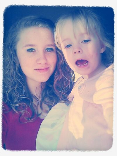 me and zoey(: I love this kid!