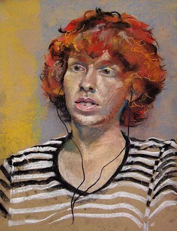 He's Has Earbuds Art Drawing Portrait Creative www.johnmarkese.com