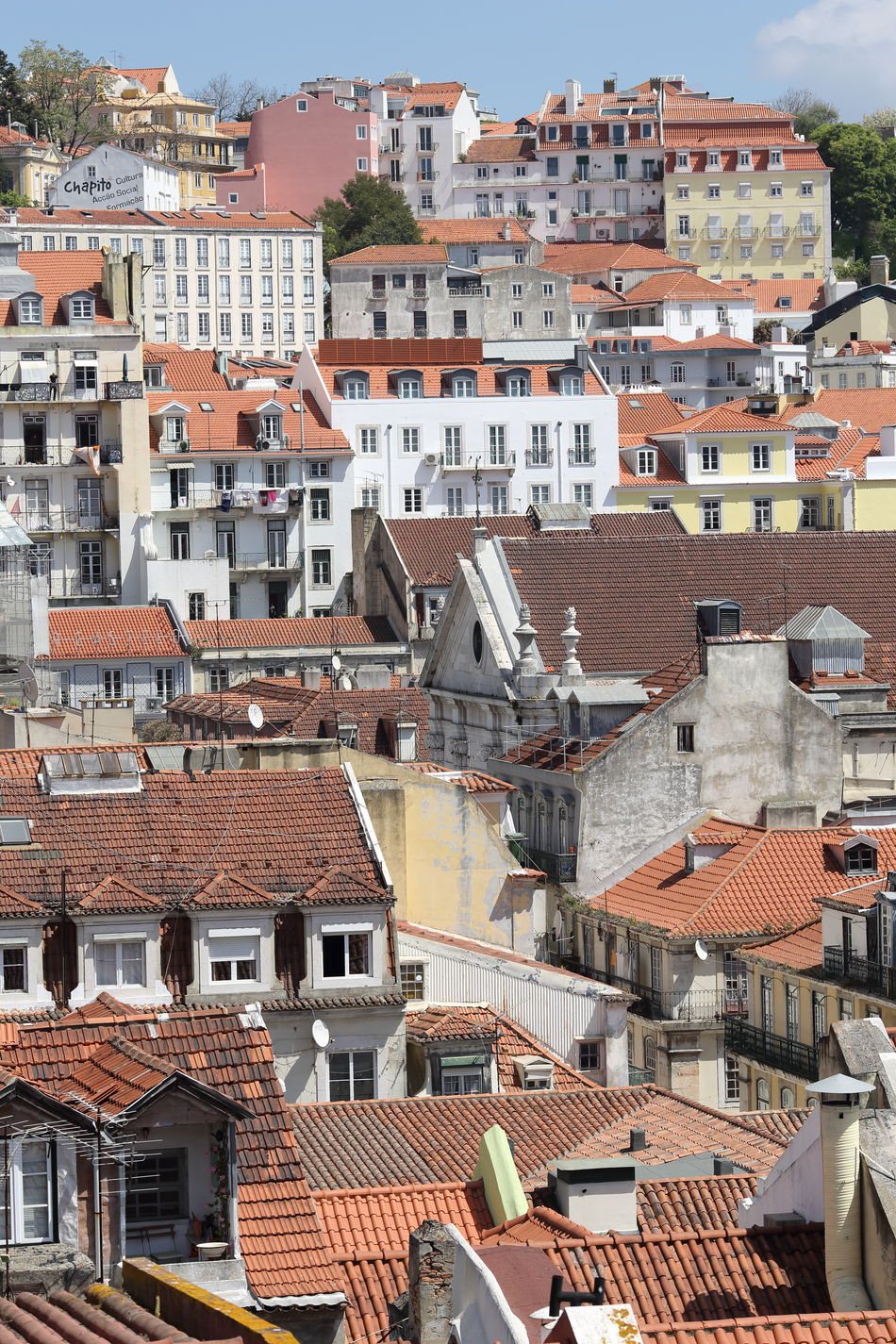 Lisbon cityscape with tiled rooftops Architecture Building Exterior Built Structure Capital Cities  City Cityscape Cityscape Crowded Day Europe House Lisbon Lissabon Outdoors Portugal Residential Building Roof Streetphotography Tiled Roof  Tourism Town Travel Destinations TRENDING  Trip