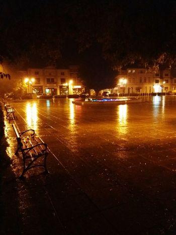 Night Reflection City No People Rainy Days Rain Dark Darkness And Light Wagrowiecwyzwalaenergie Wagrowiec w Wągrowiec, Poland
