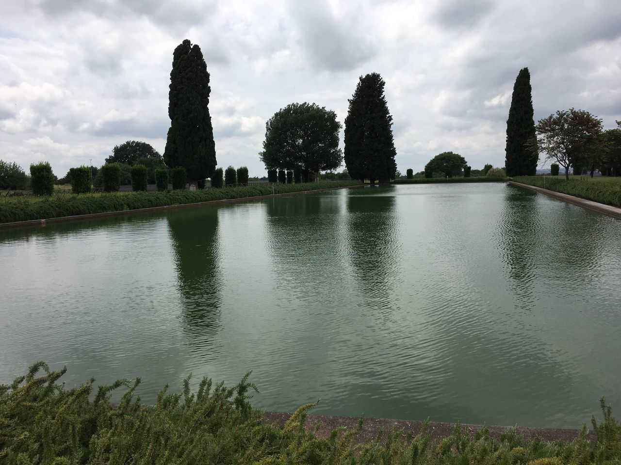 Reflection Sky Water Tree Cloud - Sky Nature No People Outdoors Lake Day Beauty In Nature Cultures Trees And Sky Trees Treescape Landscape Villa Adriana