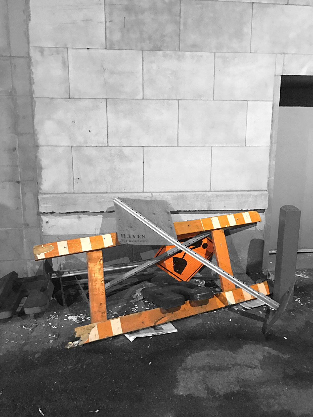 No People Occupation Working Night Outdoors Construction Blackandwhite Orange Color Downtown City EyeEmNewHere Montréal MTL
