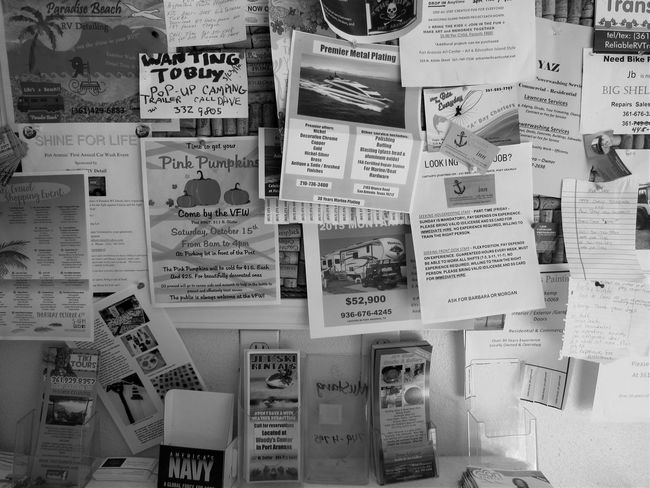 Thumb Tack Billboard All The Above Arrangement Black And White Photography Choice Close-up Collection Full Frame Large Group Of Objects Order Paper And Ink Squares And Rectangles Text Variation Notes To Go Handwriting  Typed Advertisement Posters Advertisement