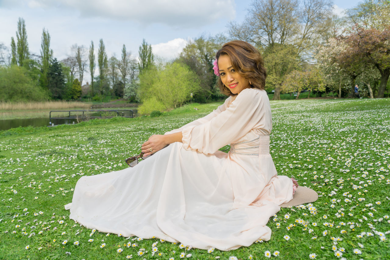 Filipino pretty model in a park in the UK. Springtime. Beauty In Nature, Blossom Filipino Girl Lady Of The Woods Lush Foliage Outdoors Outside Park Portrait Of A Woman Pretty Girl Rural Sexygirl Woman Portrait Wow!!😋
