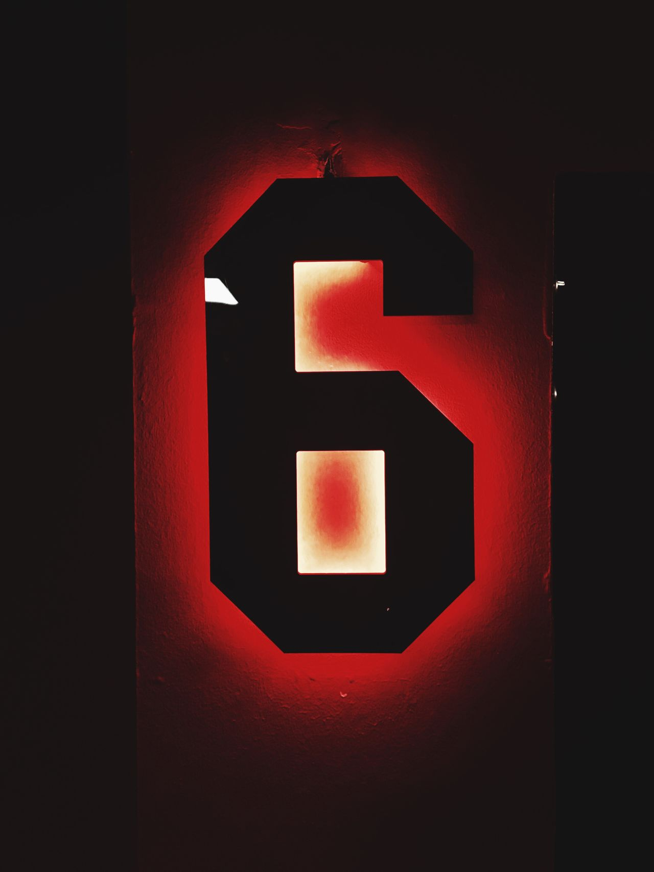 What's your number? Six Red On The Wall No People Close-up wWhat Is Your Lucky Number?
