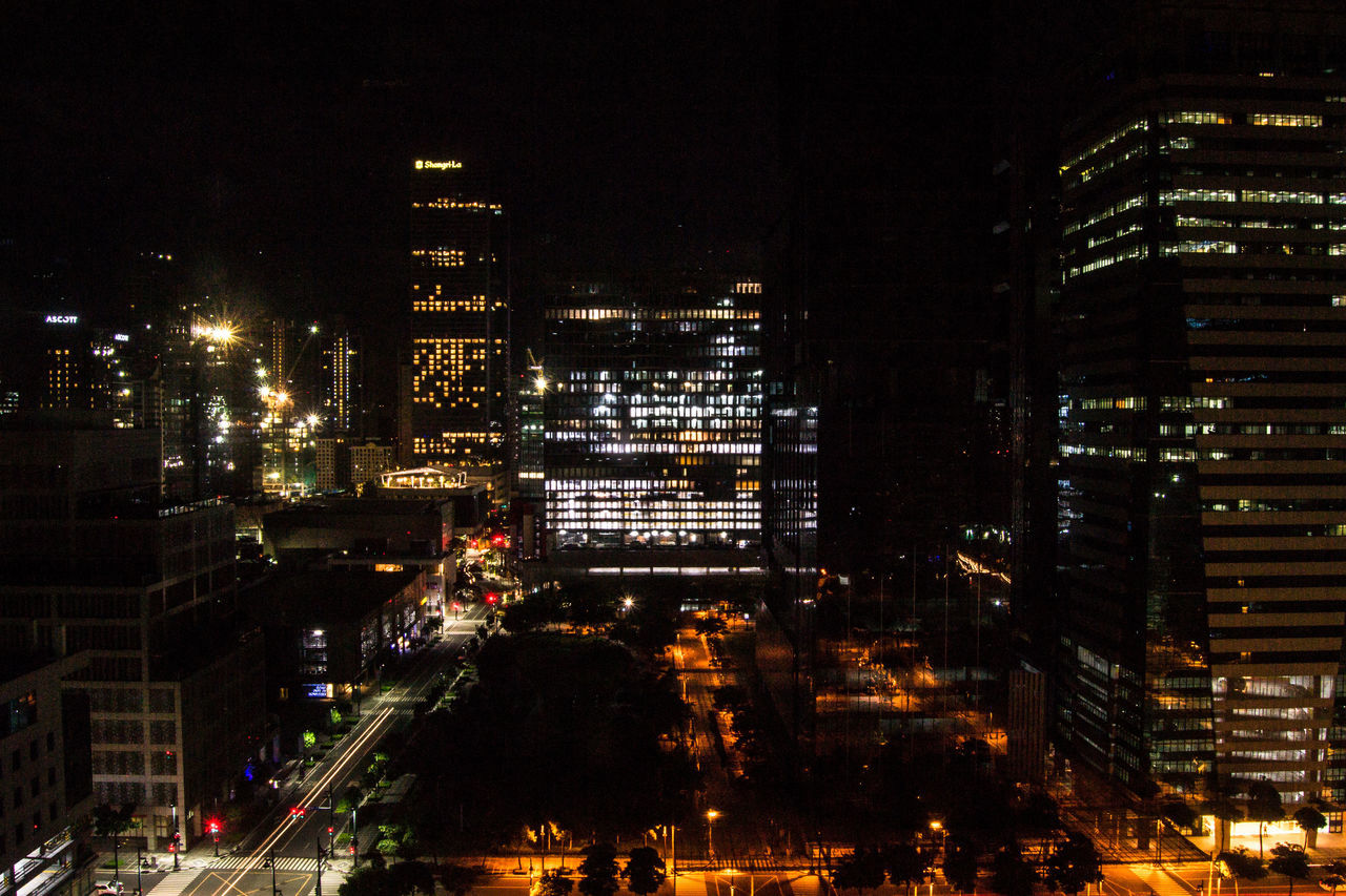 BGC Lights. A view from the office. Streetphotography City Cityscape Night Night Photography Skyline Manila Eyeem Philippines