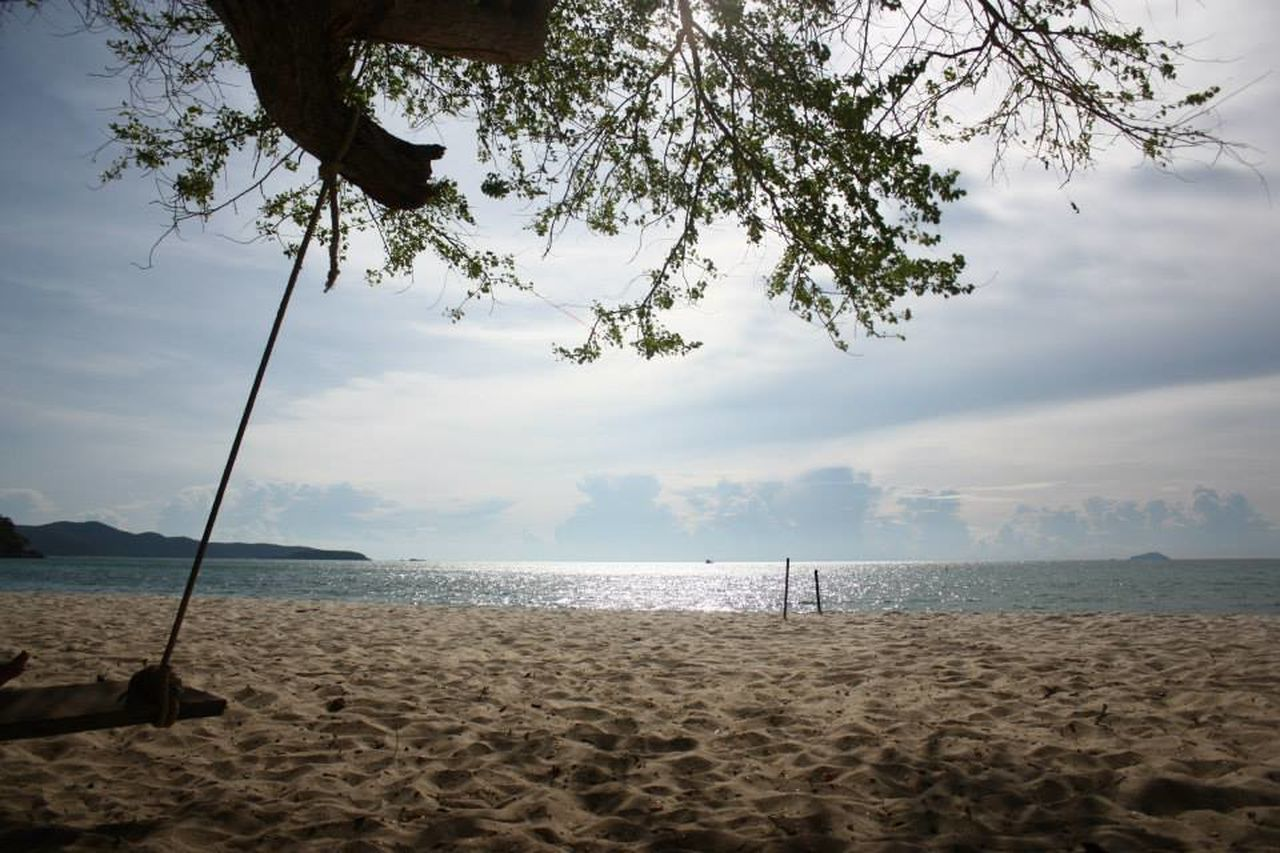 beach, sea, water, sand, beauty in nature, nature, scenics, sky, tranquility, tranquil scene, tree, outdoors, horizon over water, no people, day
