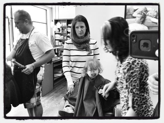 First Haircut at Shear Expression by Robert Yaskovic
