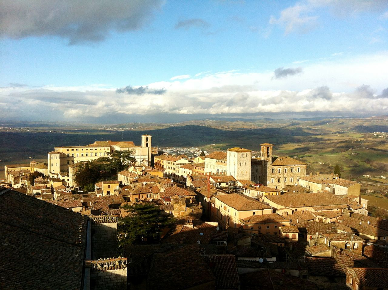 Todi Bird's Eye View Landscape Italy Paesaggio Italia Todi  Umbria The City Light