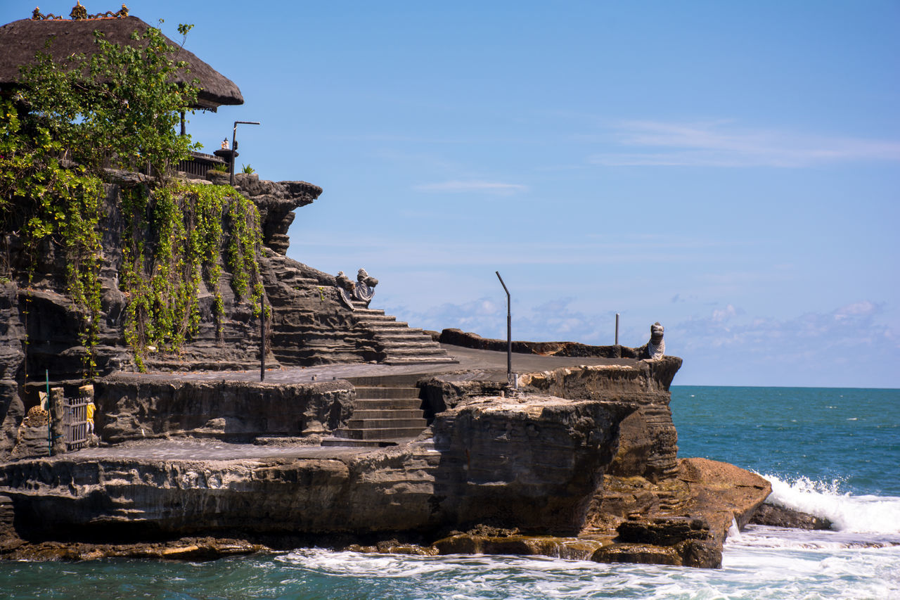 Temple In the Sea INDONESIA Indonesia_allshots Indonesia_photography Island Island Life Islandlife Islands Lifestyles Lostplaces Mind  Oceanside Outdoors Remote Remote Location Sea And Sky Sea Life Sea View Seascape Seaside Sky Soul Temple Temple - Building Temple Architecture Tranquility