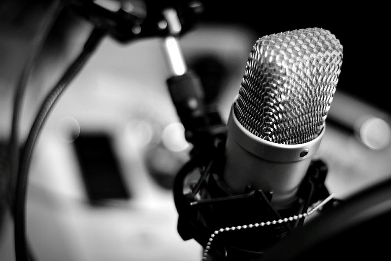 Microphone Broadcasting Close-up Radio Station Microphone Stand Indoors  Technology Recording Studio ArtThe Media Musical Equipment Stage - Performance Space Studio Records Recording Front Line Records No People Music