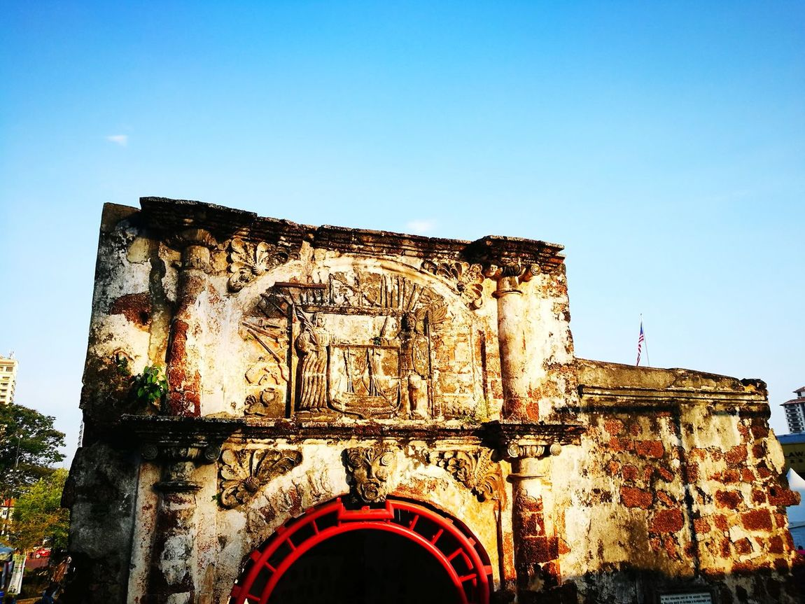 Architecture Outdoors No People History Built Structure Malaccatrip Travel Afamosa Historical Place
