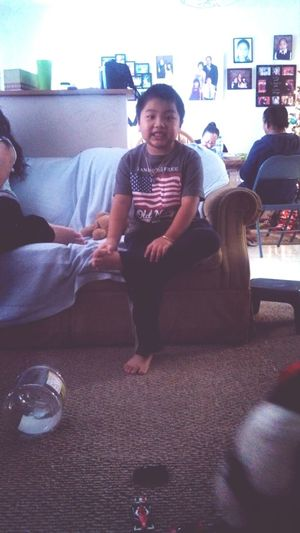I told him to smile. He smiled...? Haha, Timothy <3