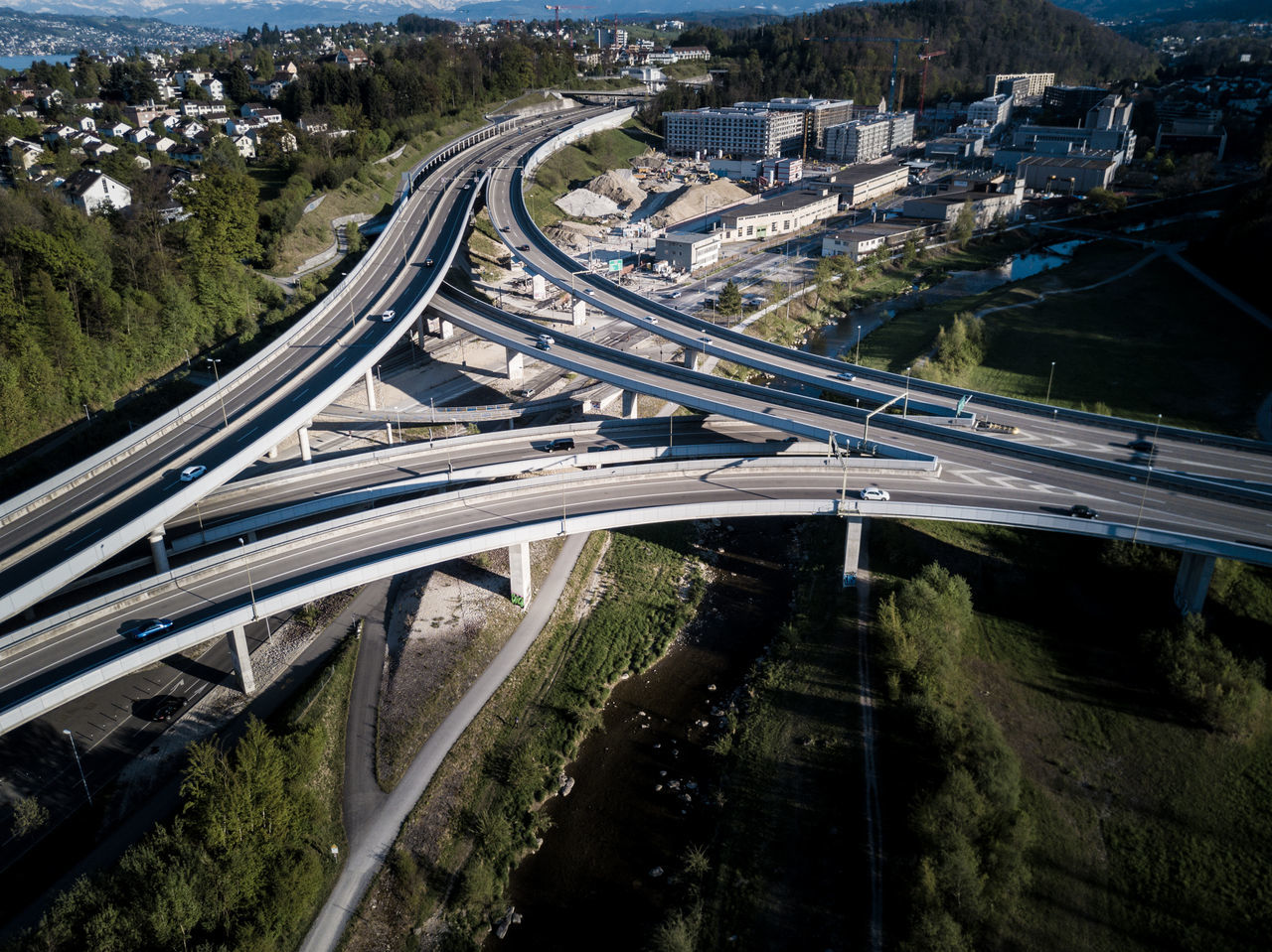 Aerial View Architecture Built Structure Car City City Life Connection Elevated Road EyeEmNewHere Futuristic High Angle View Highway Land Vehicle Mode Of Transport Motion Multiple Lane Highway Outdoors Overpass Road Road Intersection Speed Street Light Traffic Transportation