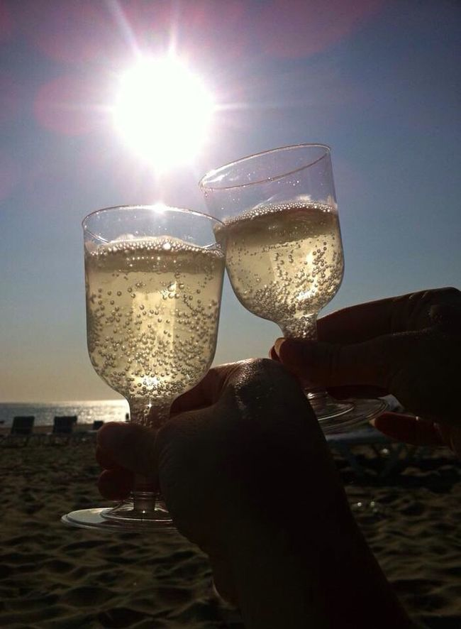 Cheers Salut Salute Proost Wine Wineglass Wine Time Beach Beachphotography Beach Life Beach Photography Sea And Sky Sea Sand Enyoing Life Enyoing The Moment Enyoing The View  Sunset Sunset Silhouettes Sunset_collection Relaxing Friends Friendship Freedom Free