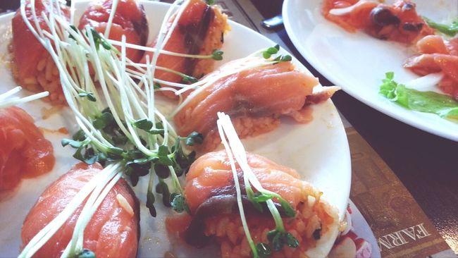 Salmon Salmon Sashimi Food Porn Enjoying A Meal