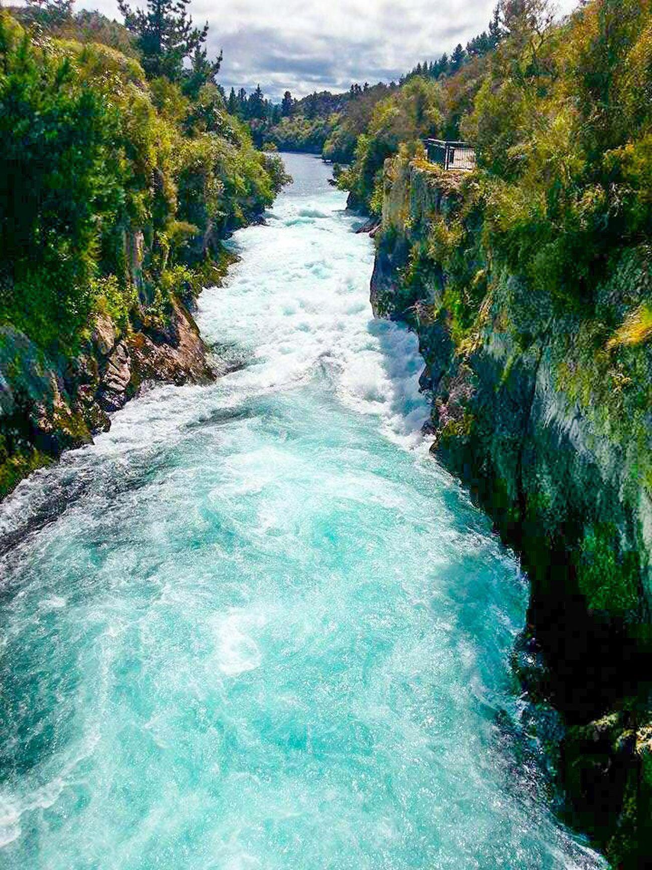 Falls Huka Falls, NZ New Zealand New Zealand Beauty River Stream Lake Taupo Central North Island