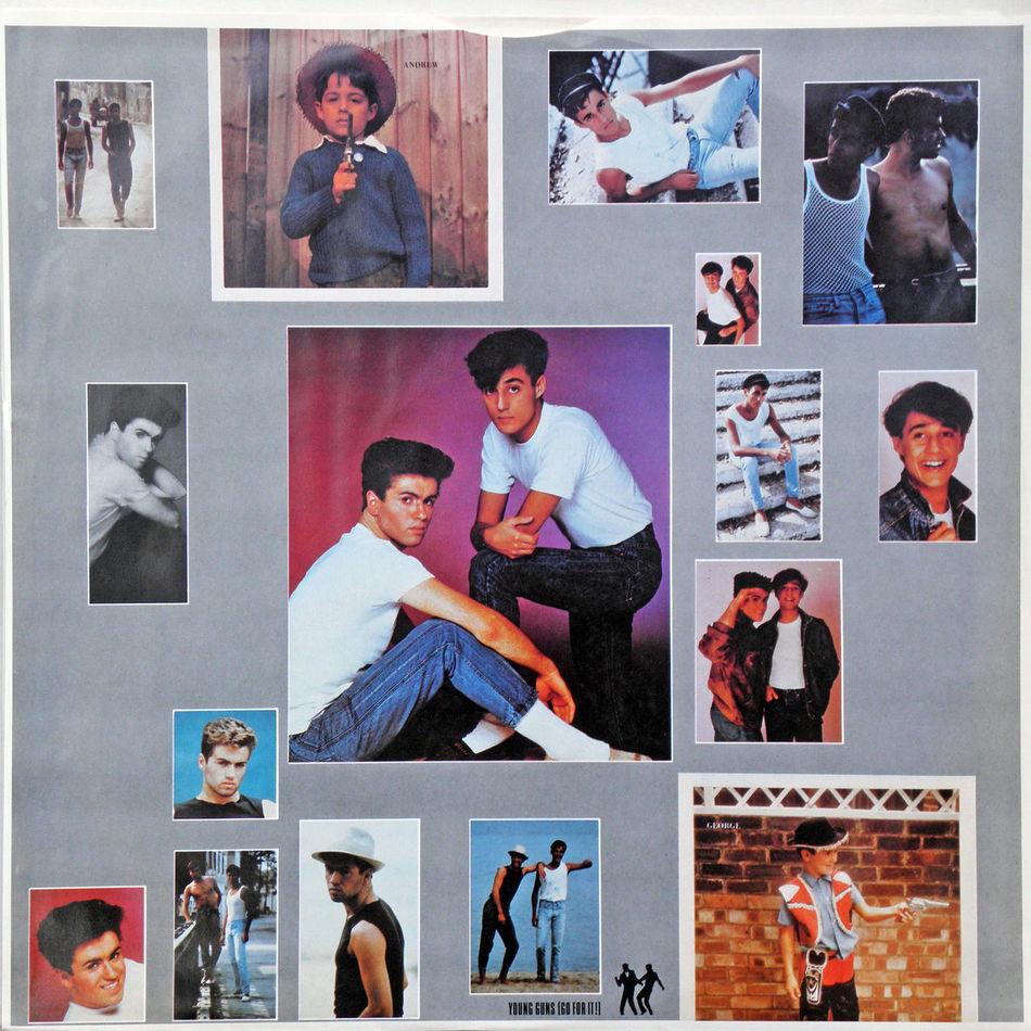 Wham! LP 'Fantastic', gramophone record inner sleeve A, George Michael & Andrew Ridgeley 1983. 1983. Album Andrew Ridgeley Charts Fantastic George Michael Gramophone Record In Memoriam LP Music Musician Pop Popular Singer  Songwriter Stars WHAM!