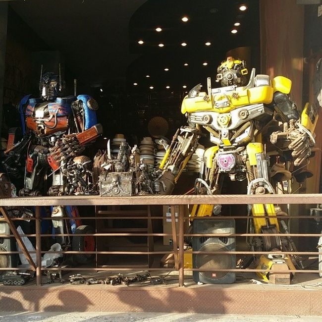 Transformers Optimusprime Bumblebee Venicebeachboardwalk