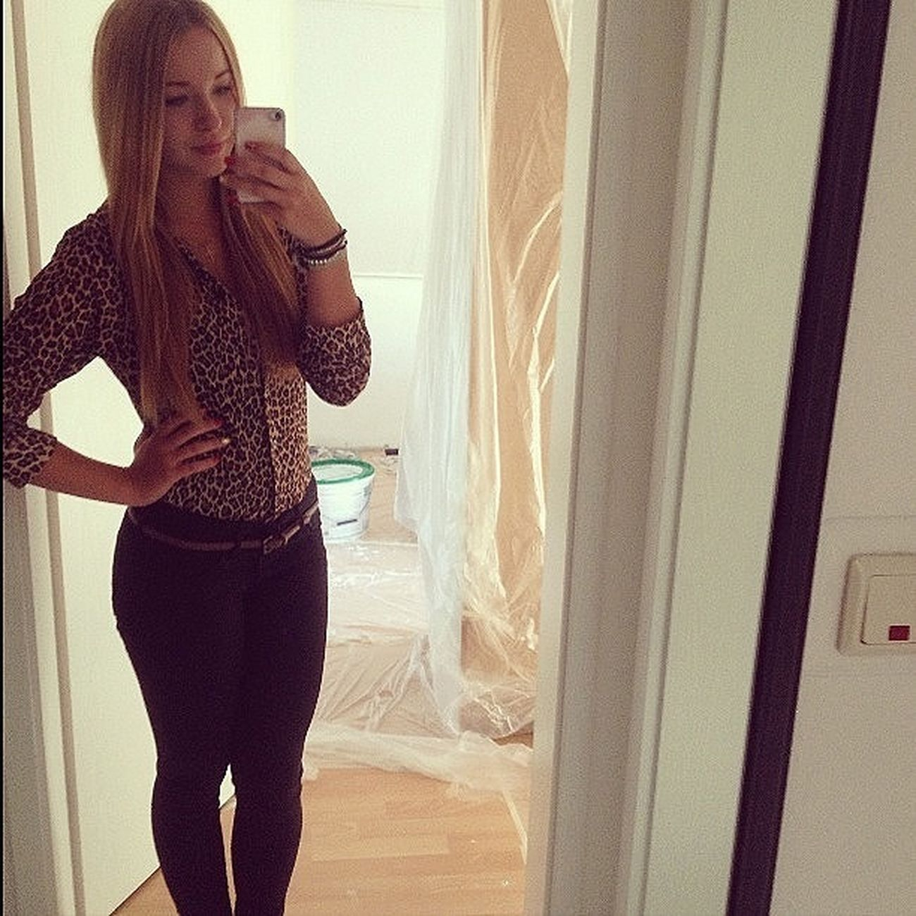 Helloworld Leopard Print Selfie Can't wait for my New room
