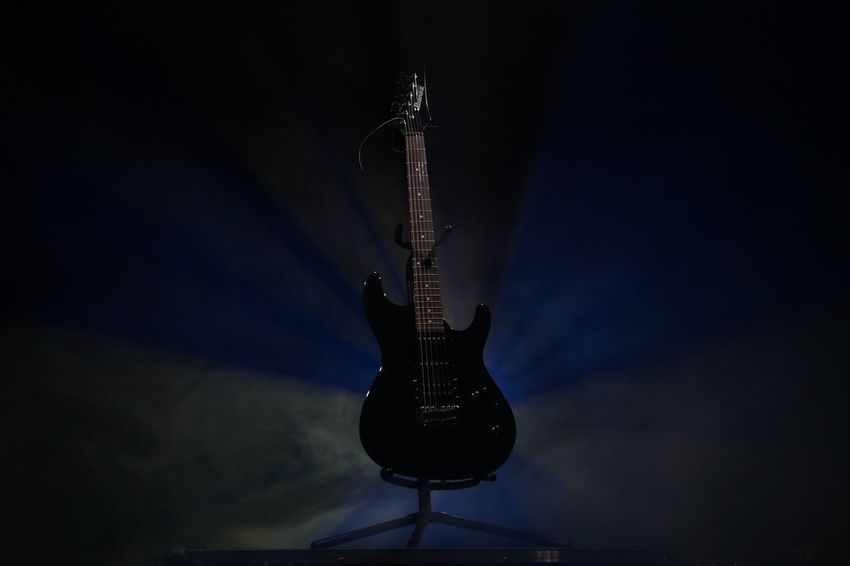 6 Strings Arts Culture And Entertainment Black Background Blues Colors Electric Guitar Festival Season Fog Guitar Ibanez Illuminated Jazz Music Musical Instrument Night No People Outdoors Performance Popular Music Concert Rock Music Saxophone Sky Stage - Performance Space EyeEmNewHere Uniqueness