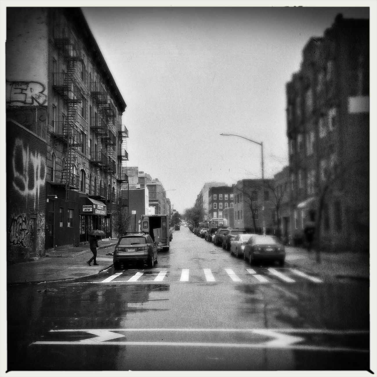Rainy Morning Urbanphotography Architecture Brooklyn Urban Landscape New York City Street Photography IPhoneography Cityscape Rain Blackandwhite
