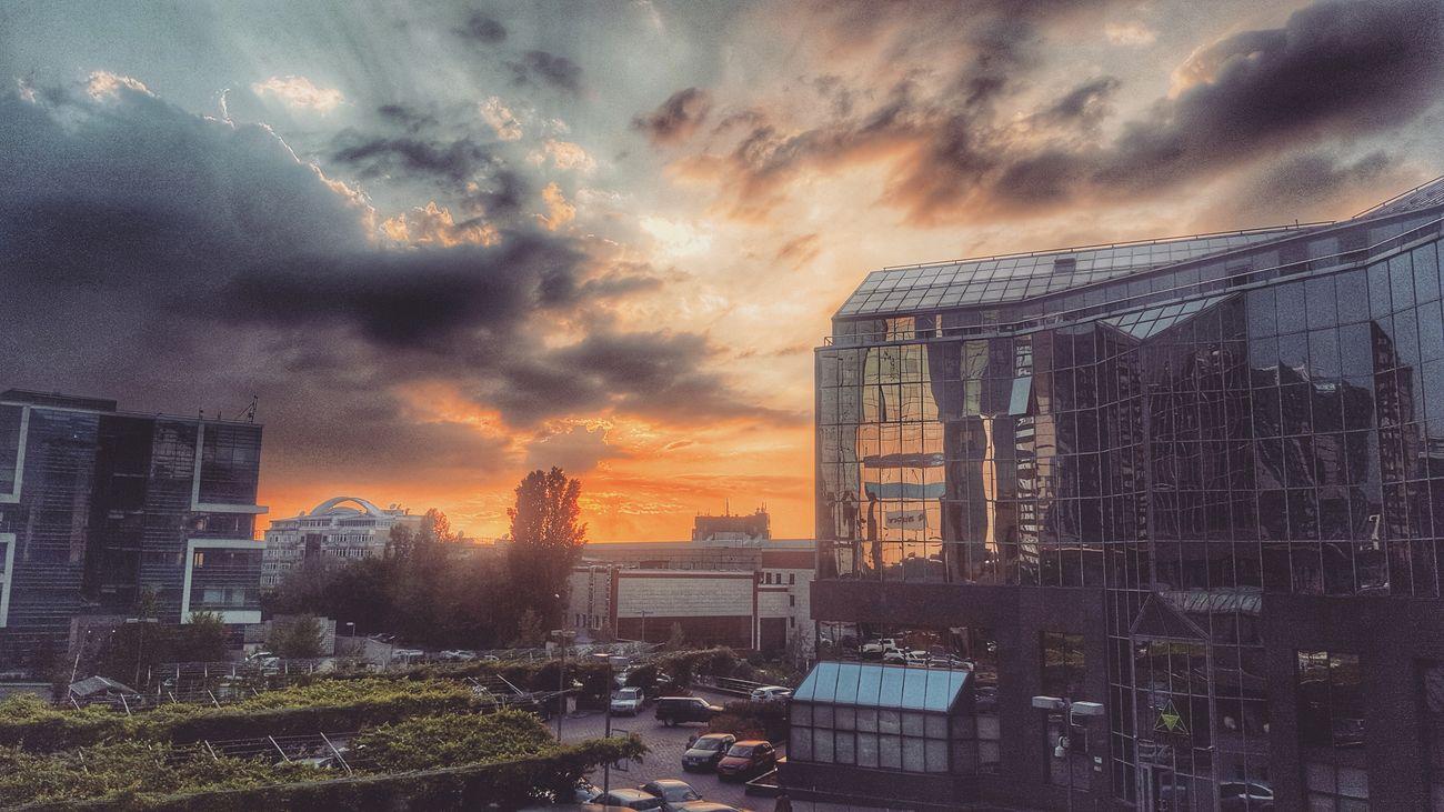 Almaty City NurlyTau Evening Sun After Work