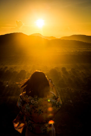 Adult Adults Only Beauty In Nature Dambulla Day Eyesight Lion Mountain Mountain Range One Person Outdoors People Pidurangala Rear View Rock Sky SriLanka Sunrise Sunset