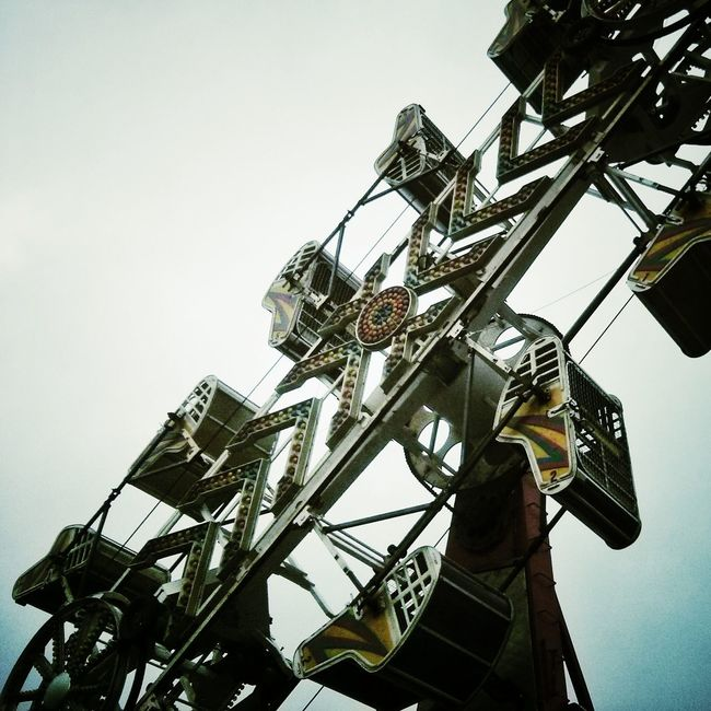 A rusty ride at the Woodstock Fair. Fair Rides Falling Apart
