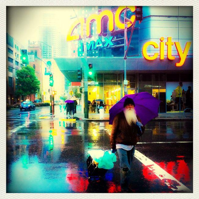 On my way to MacWorld2014 rainy San Francisco, Homeless Throughglass