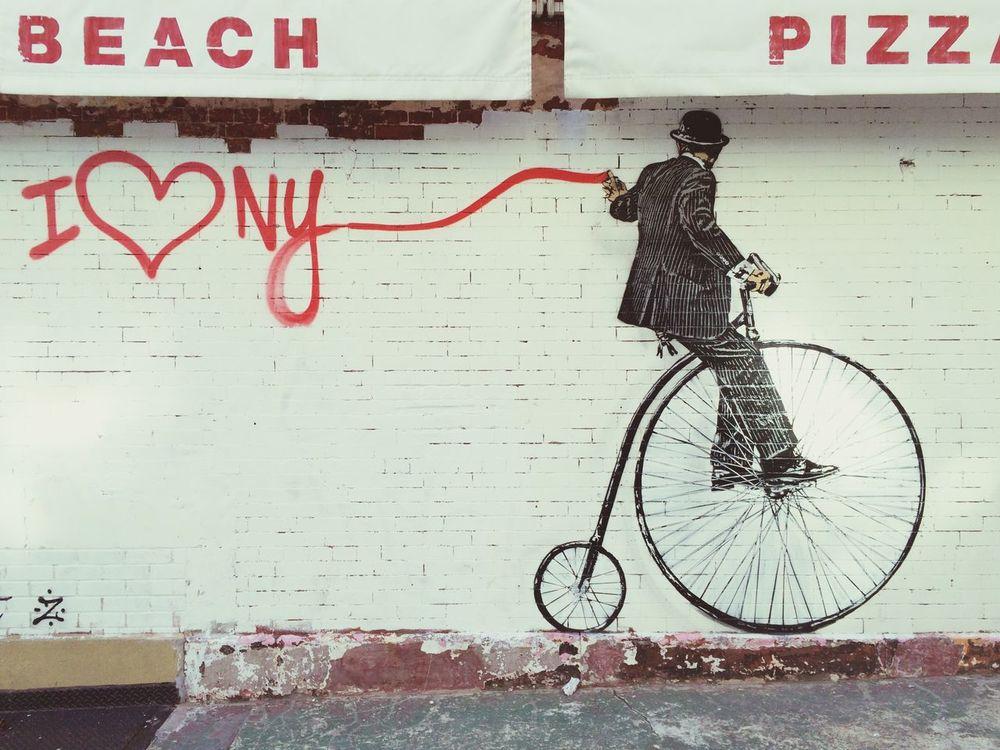 Streetart New York Nick Walker Bicycle Publicart Street Art