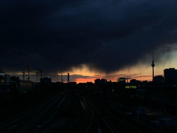 Twilight Sunset Silhouettes Clouds And Sky Berlin Urbanexploration Rain