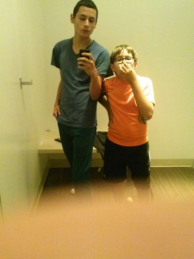 Me and my little brother.