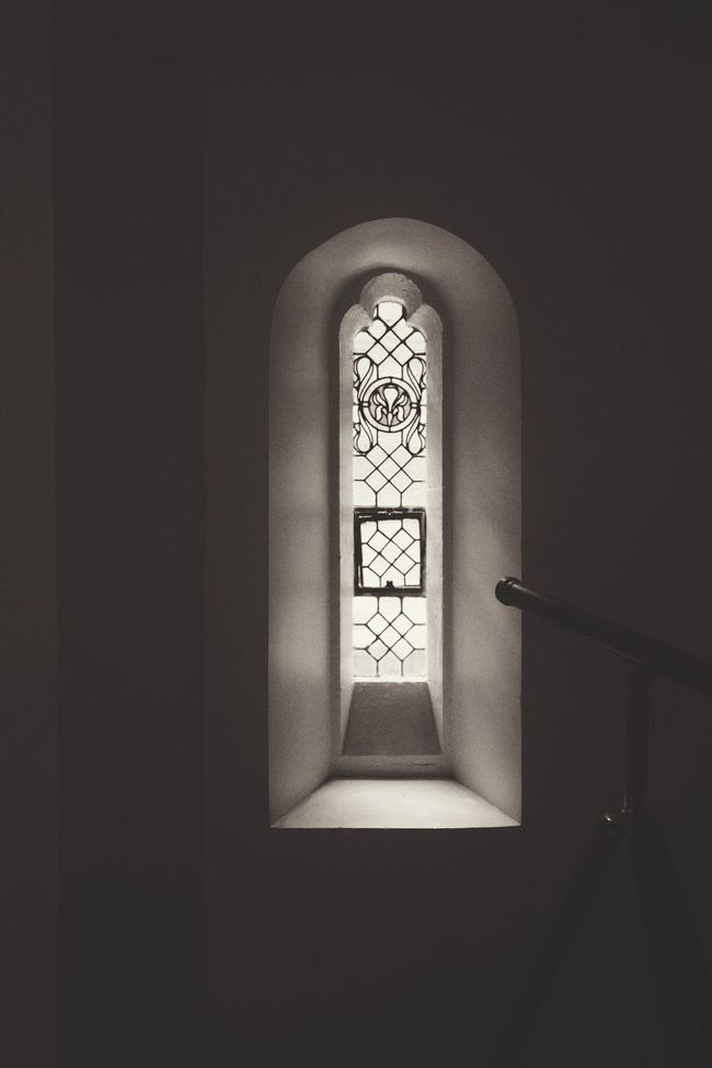 Window Indoors  Stained Glass Built Structure Architecture Arch Church Place Of Worship Day Window Sill Window Frame Geometric Shape Streaming No People