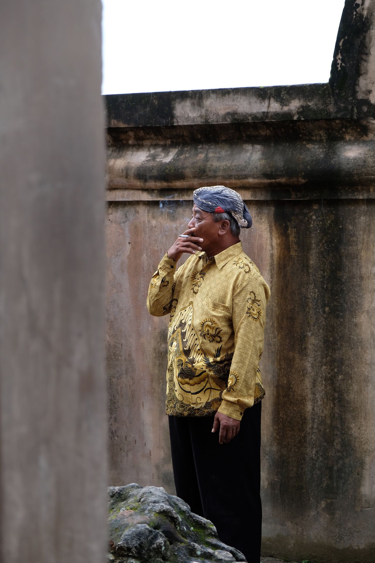 javanese man Real People Day Outdoors Man Javanese Smoking