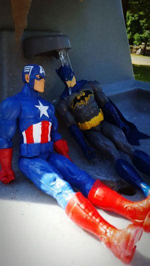 Superherorehab Step 1 Get Cleaned Up Batandcapadventures Summer 2016 Fallen Heroes Love Transforms