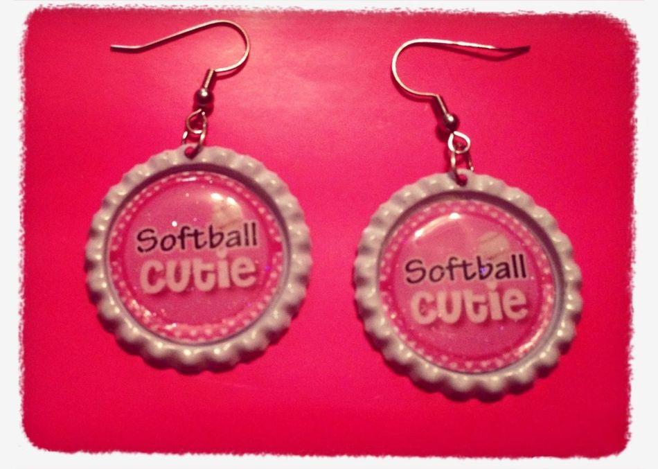Softball Earrings